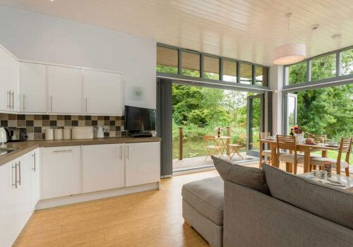 Open Plan living in this New Forest Riverside Lodge