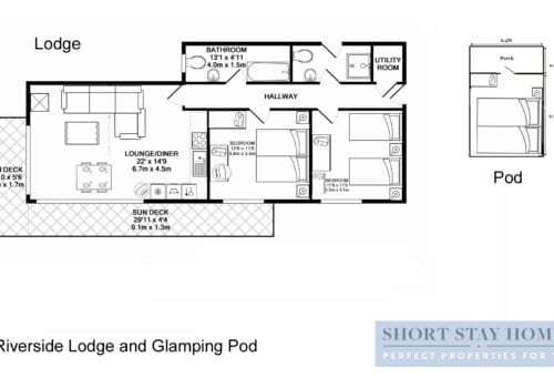 Plan your stay with the floor plan to the New Forest Lodge