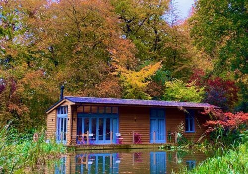 Autumn at the New Forest Riverside lodge and Glamping pod