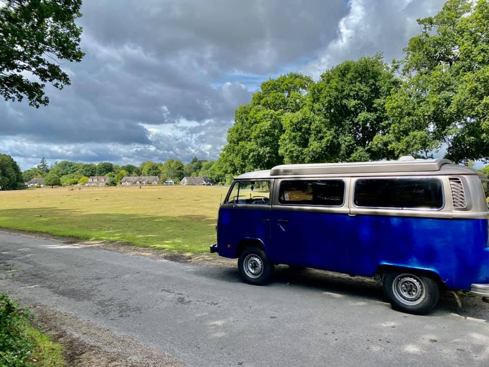VW Camper van in the new Forest