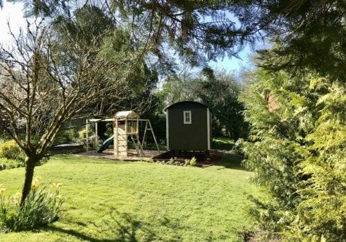Shepherds hut at Beck Cottage