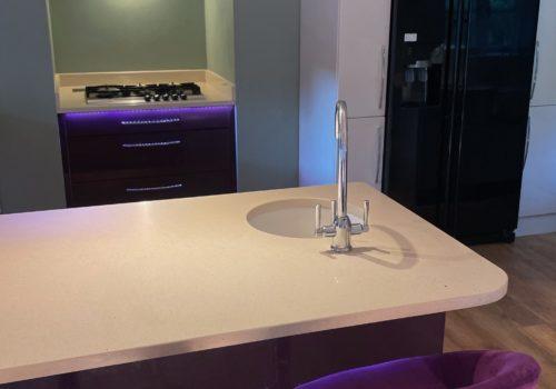 Sleek and modern kithcen in Dorset Holiday Home